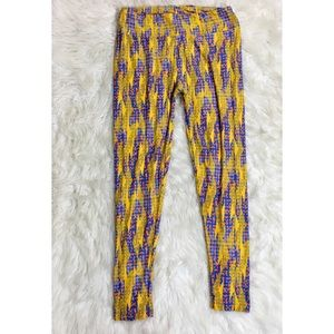 Lularoe Tall and Curvy Lightning Bolt Leggings